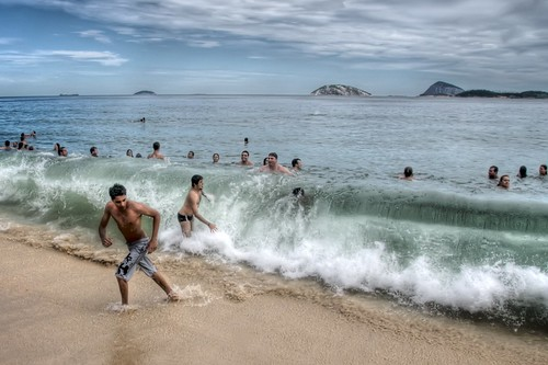 Waves on Ipanema Beach