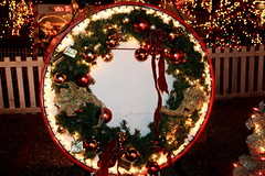 Christmas Wreath (lehcar1477) Tags: christmas decorations castle zoo lights santas time massachusetts wreath lit stoneham zoolights santascastle