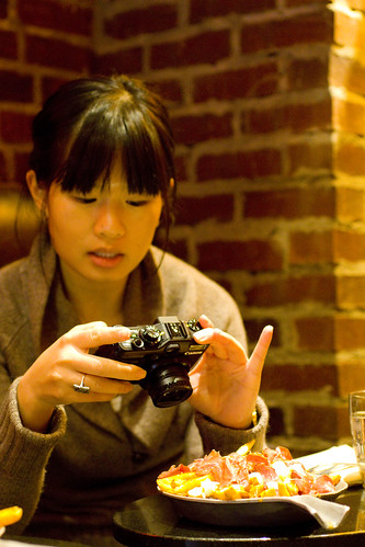 Amy Cao taking picture