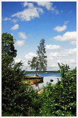 059 (AnkhaiStenn) Tags: road park wood city blue trees sea sky cloud seascape tree brick tower clock nature water rock stone wall river garden walking landscape town hall ancient view russia walk townhouse ruin reserve medieval mon birch middle karelia ages vyborg repos monrepo