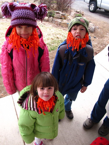 The three leprechauns heading to school