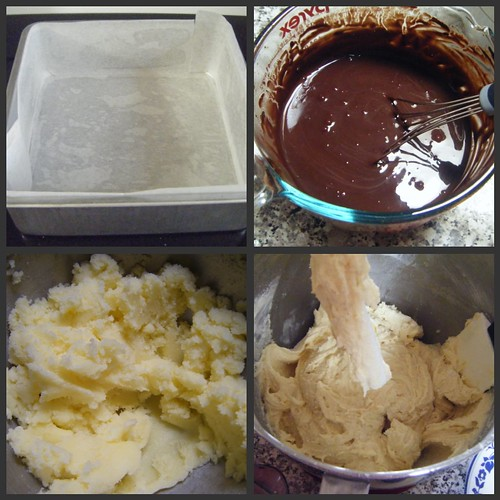 Chocolate cake collage 1