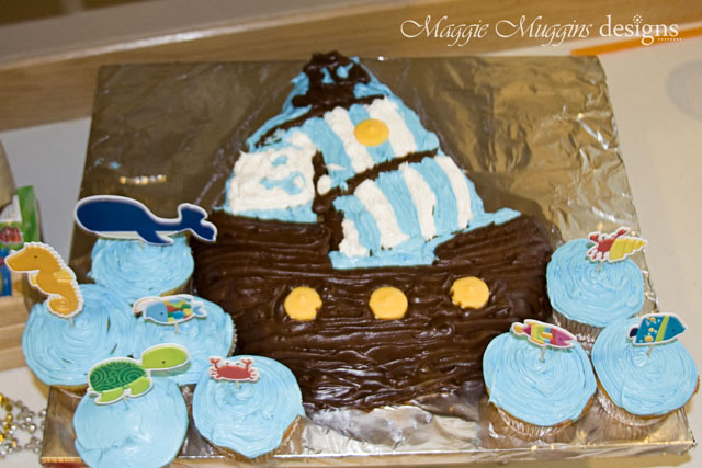 Bucky Pirate Ship Birthday Cake
