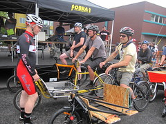 Cirque du Cycling_30 (METROFIETS) Tags: green beer bicycle oregon garden portland construction paint nw box handmade steel weld coat transport craft cargo torch frame pdx custom load cirque woodstove builder haul carfree hpm suppenkuche stumptown paragon stp chrisking shimano custombike cargobike handbuilt beerbike workbike bakfiets cycletruck rosecity crafted 4130 bikeportland 2011 braze longjohn paradiselodge seattlebikeexpo nahbs movebybike kcg phillipross bikefun obca ohbs jamienichols boxbike handmadebike oregonhandmadebikeshow nntma hopworks metrofiets cirqueducycling oregonmanifest matthewcaracoglia palletbike oregonframebuilder seattlebikeshow bikefarmer trailheadcoffee cargbikerace