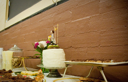 Molly and Timmy's wedding cake