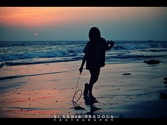 Time to Return (Shabbir Ferdous) Tags: blue boy sunset sea beach silhouette island photographer shot run stmartin bangladesh bangladeshi ef70200mmf28lisusm canoneos5dmarkii shabbirferdous wwwshabbirferdouscom shabbirferdouscom
