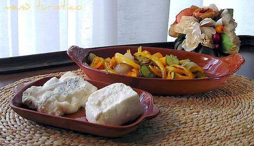 formaggi e verdure