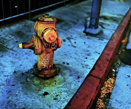 fire hydrant grunge