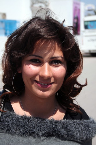 Young Tunisian Woman Smiles For The Camera