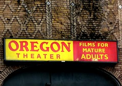 Oregon Theater sign on SE Division in Portland, Oregon