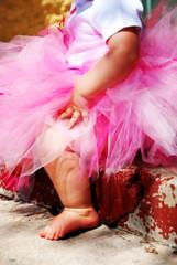 pink tutu (~ Paige ~) Tags: babygirl notmykid almost1 pinkribbon pinktutu