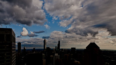 Chicago sunset clouds (doug.siefken) Tags: park eve blue sunset summer sky urban usa cloud chicago tower art water skyline clouds skyscraper dark geotagged evening illinois downtown cityscape place darkness loop dusk sears center highrise hyatt trump prudential streeterville aeon siefken dougsiefken