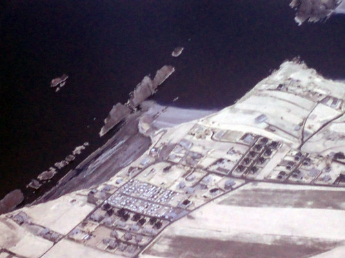 Küste von Santander aus der Luft