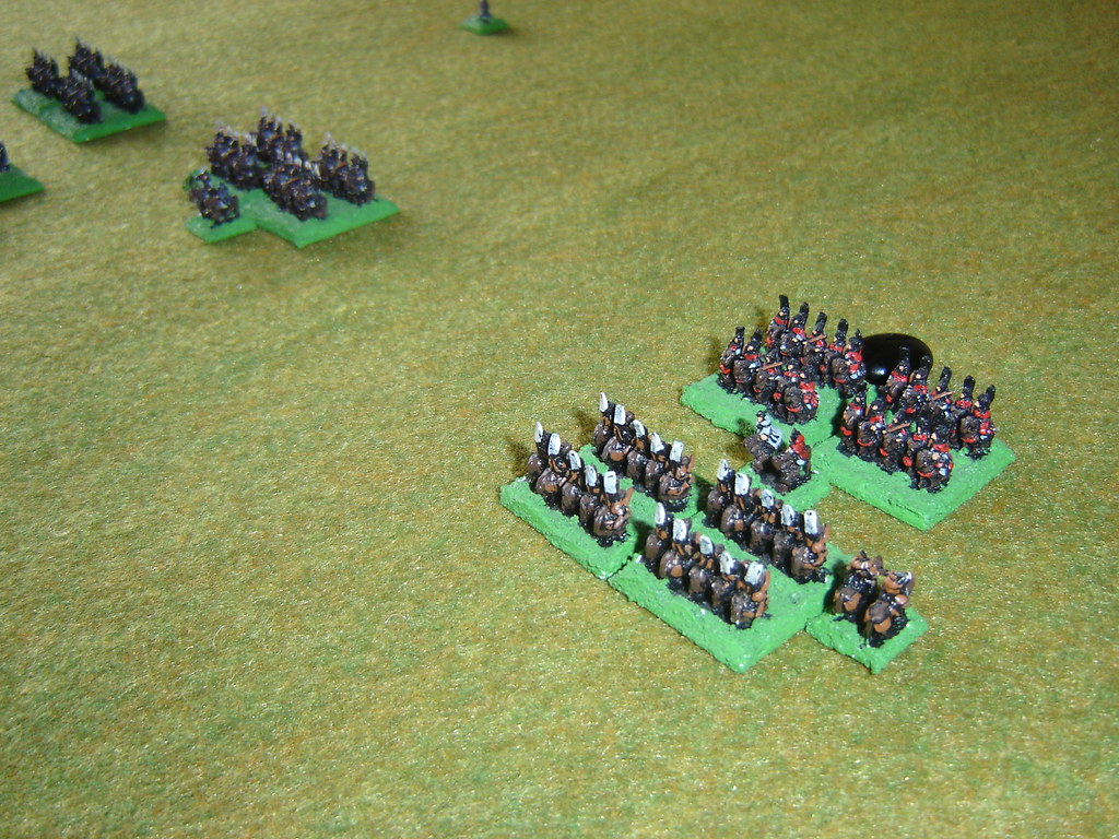 Cavalry charge each other