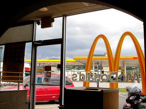 A McDonalds in Erwin, Tennessee