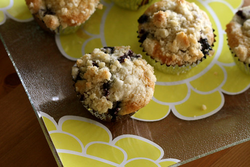 Browned Butter Fresh Blueberry Muffins