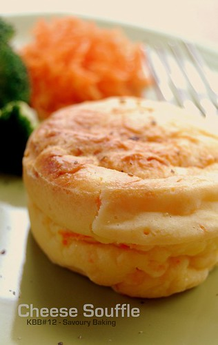 Cheese souffle with broccoli & carrot