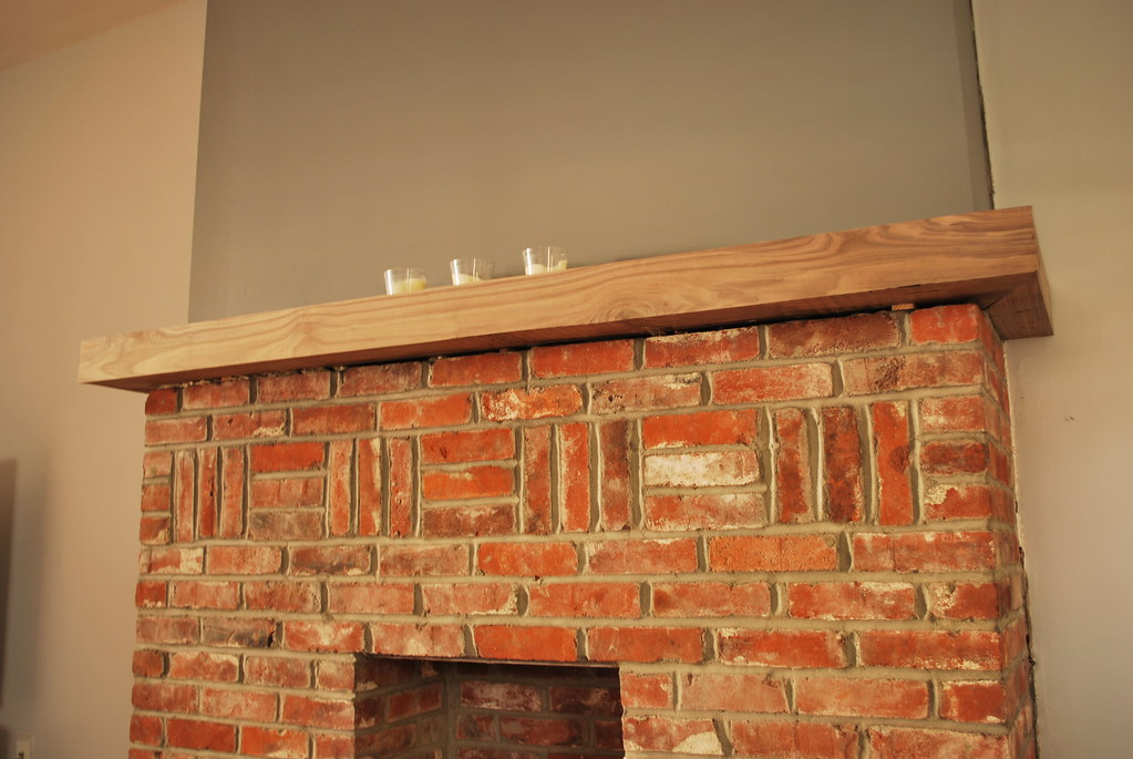 new solid walnut fireplace mantle