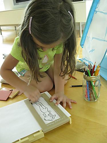 Crayon rubbing.