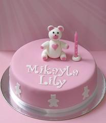 Naming & 1st Birthday Cake (Decorada) Tags: bear one modelling fondant gumpaste