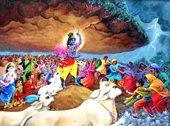 ISKCON desire tree - Krishna lifts Govardhana Hill (ISKCON Desire Tree) Tags: vishnu demon krishna garuda kidnap radha gopis rukmini chaitanya radhakrishna iskcon narasimha madhava bhumi govardhan bhima lordvaraha