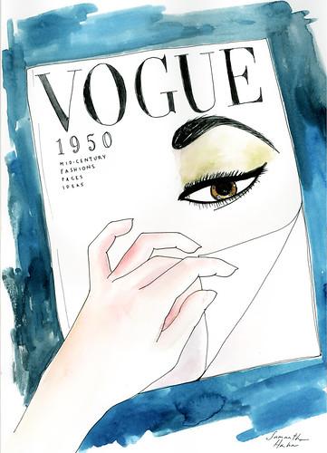 Vintage Vogue 9X12 Bristol Paper
