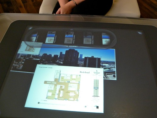 Microsoft Surface displaying Four Seasons Denver blueprints