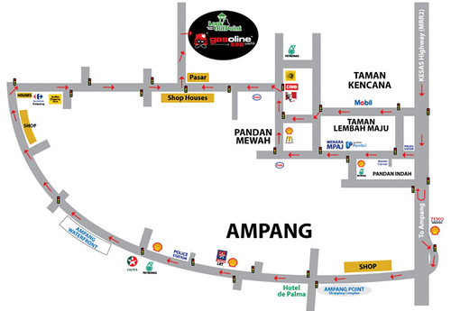 ampang lookout point map