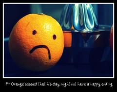 14.08 Mr orange meets the juicer (Lorna J Stewart) Tags: orange august tribute orangejuice juicer scavenger daysarenumbered hpad dontleavemethisway