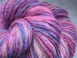 Faerie Petals - handspun yarn - 254 yards