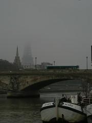 foggy eiffel (ÇaD) Tags: bridge paris fog smog chad eiffeltower foggy smoggy cagdas ozturk deger cagdasdeger