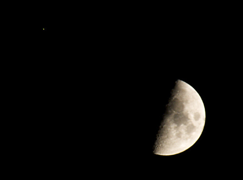 the moon and arcturus