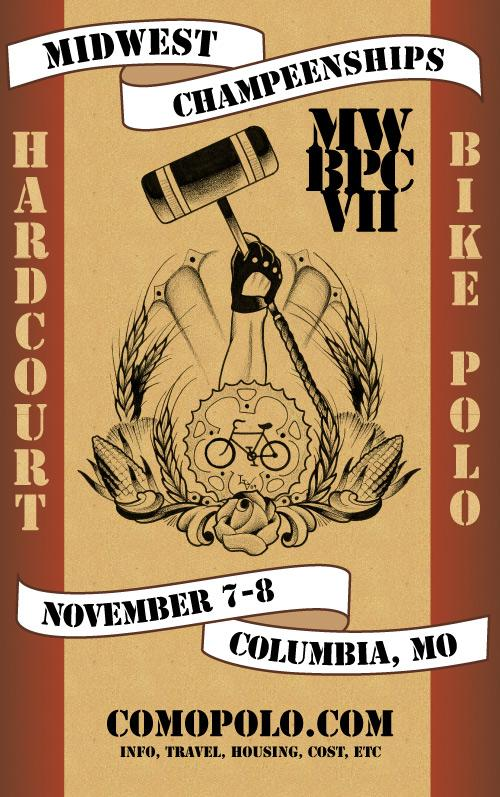 Hardcourt bike polo midwest champeenships tournament flier