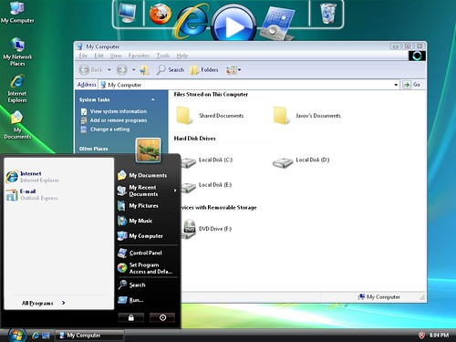 3919810296 748c72b70b Windows 7 And Vista Themes / Visual Styles For Windows XP