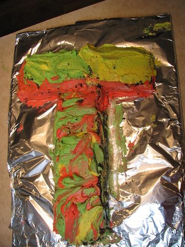 """Psychadellic """"T"""" cake"""