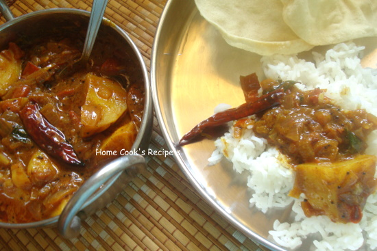 Spicy Potato Curry with Rice