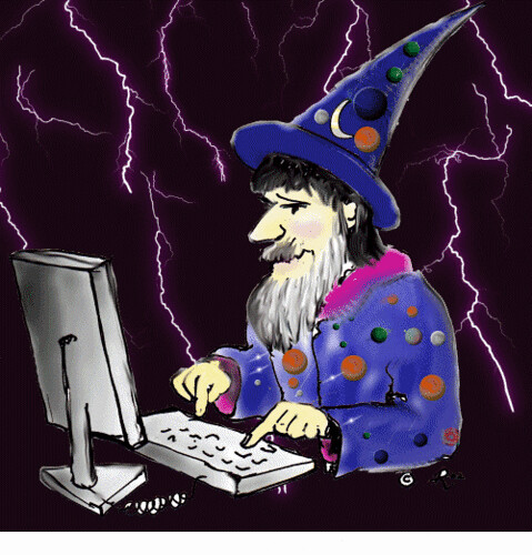 Animated Gif Wizard Wizard Animation Computer