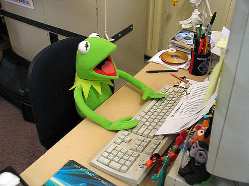 kermit and computer