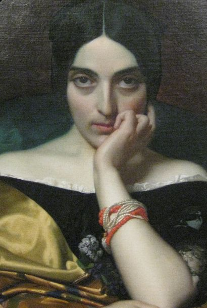 portrait de madame alphonse karr.. (detail)