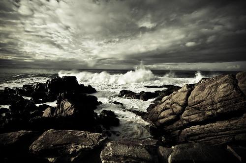 フリー画像| 自然風景| 海岸の風景| 南アフリカ共和国風景| 暗雲の風景|       フリー素材|