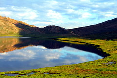 sheosar  again and again and again (TARIQ HAMEED SULEMANI) Tags: tourism nature clouds trekking reflections hiking north lakes tariq northernpakistan deosai skardu sheosarlake mywinners lakesinpakistan flickrdiamond concordians sulemani saariysqualitypictures