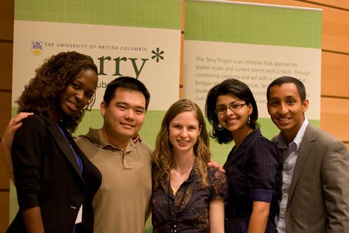 Jennifer Kaban, Iris Amuto, Eric Ma, Tahira Ebrahim, Azim Wazeer @ UBC TEDxTerry Talks 2009