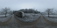 Winter Panorama Assamstadt (Undertable) Tags: winter panorama distillery equirectangular undertable kugelpanorama assamstadt