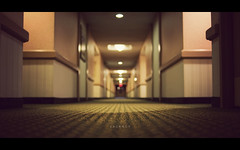 Vacancy (isayx3) Tags: 35mm hotel nikon dof bokeh low perspective motel hallway f2 d3 redrum theshining plainjoe isayx3