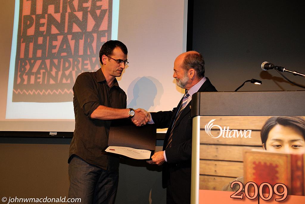 Andrew Steinmetz - Ottawa Book Award