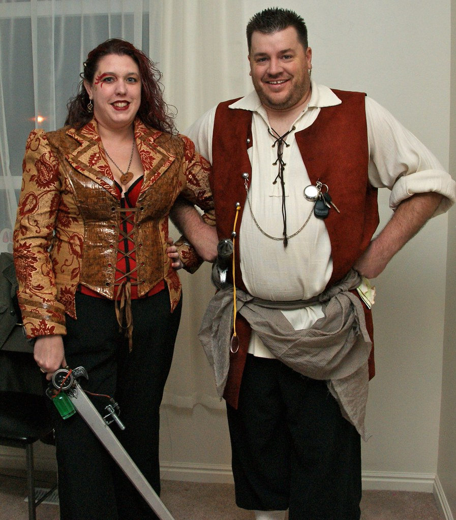 Steampunk Jennifer and Clint by LauraMoncur from Flickr