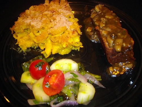 My Kinda Meat Loaf, Baked Mac and Cheeze, and Winter Salad Saute