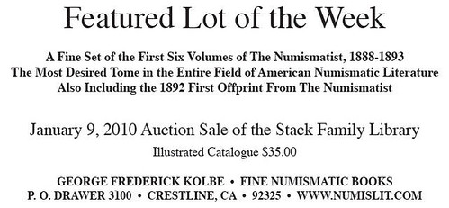 Kolbe Stack Library Numismatist ad