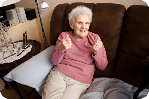 """Nanny """"thumbs up"""""""