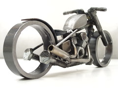 Nuts and Bolts Sculpture Motorcycle